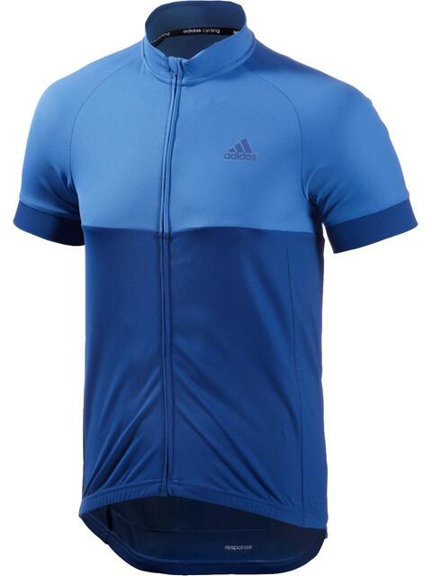 adidas Response Team Kortærmet cykeltrøje Herrer blå